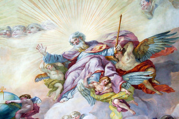 Ceiling painting in the religious version.