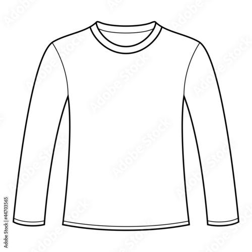 Long Sleeved T Shirt Template Stockfotos Und Lizenzfreie Vektoren