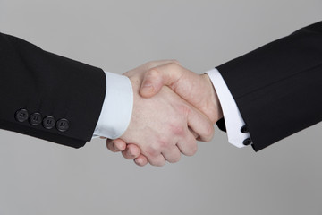 Close-up of business handshake