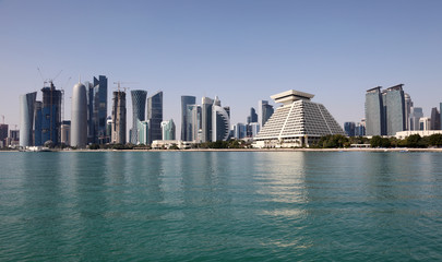 Doha downttown district Al Dafna, Qatar, Middle East
