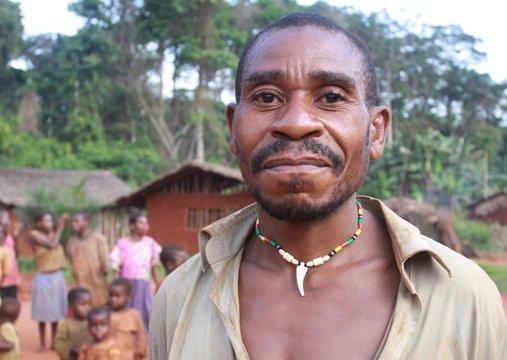 portrait d'homme pygmée