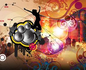 Music event illustrtion