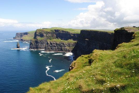 Prairies à Cliffs of Moher - Irlande