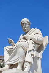 Fototapete - statue of Plato,the Academy of Athens,Greece