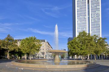 Springbrunnen in der Stadt