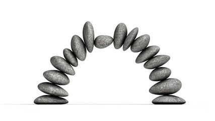 Steine Halbkreis im Gleichgewicht