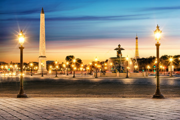 Obraz Paryż Place de la Concorde - fototapety do salonu