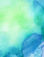 Abstract painted watercolor background
