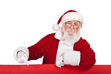 Santa with red  banner