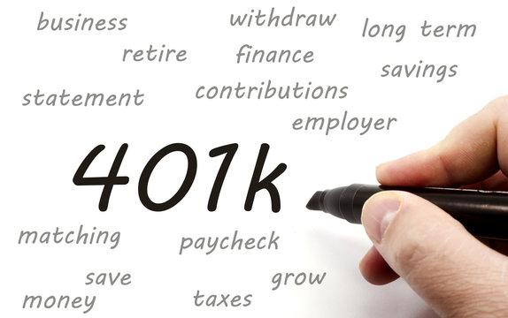 401k being handwritten