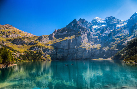 Lake Oeschinen, Kandersteg, Switzerland