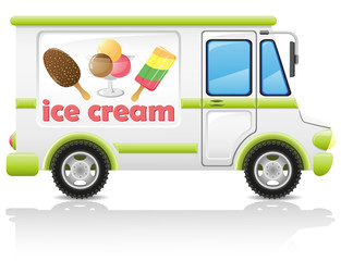 car carrying ice cream vector illustration