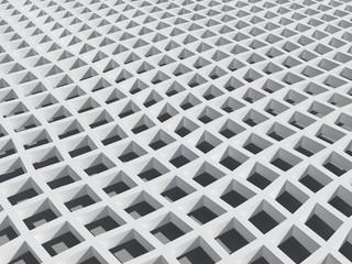 Background with wWhite square cellular bent lattice