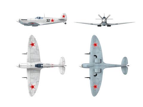Soviet winter version of WWII fighter