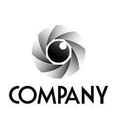 Logo diaphragm and eye # Vector