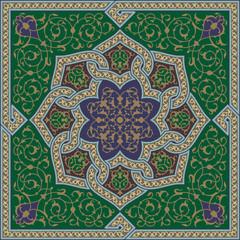 Samarkand Complex Flower Ornament