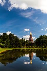 Pagoda at Phu Tog,North-East of Thailand