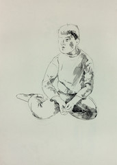 Sketch of a young boy