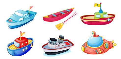 various ships