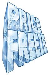Price freeze sale illustration