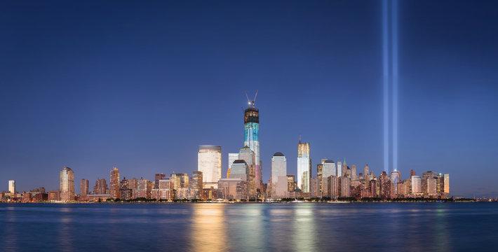 9/11 Memorial September 2012 Tribute in Light World Trade Center