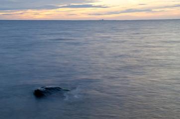 Black rock in soft water