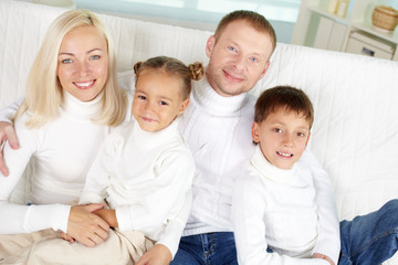 Family in pullovers