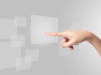 pressing a touchscreen button