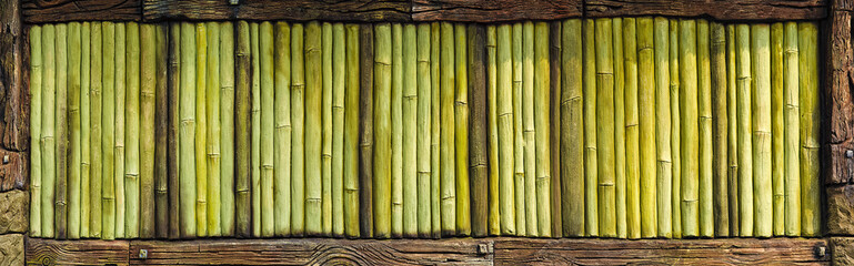 Old bamboo wall texture