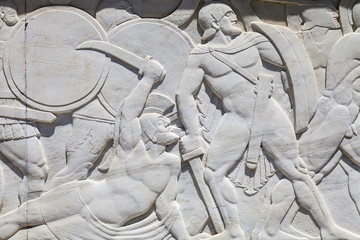 Leonidas monument in Thermopylae, Greece