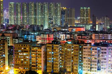 Hong Kong urban at night