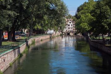 Elsass, Fachwerk, Frankreich, Straßburg, Kanal,