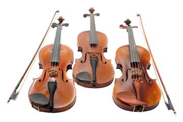 three violins