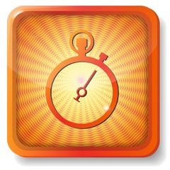 orange stopwatch icon