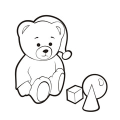 The bear cub is played. A contour