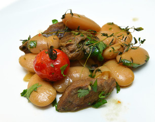 roast lamb with beans