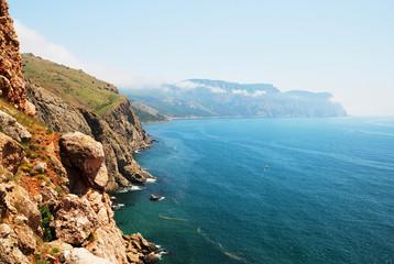 mountains and the sea in Crimea