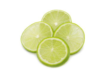 For lime slices isolated on white