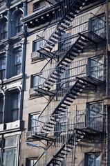 Wall Mural - Façade avec escalier de secours - New-York