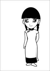 Chinese women cartoon vector