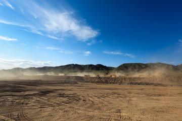 Printed kitchen splashbacks Desert construction site and dust