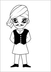 Men turban vector