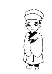 Men wear hats vector cartoon