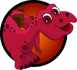 Photo sur Plexiglas Dinosaurs funny dinosaur cartoon