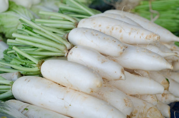 many white radishes are sold in fresh markets