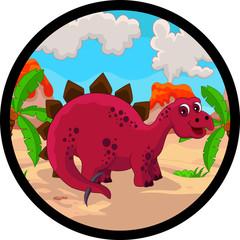 Photo sur Plexiglas Dinosaurs funny dinosaur cartoon