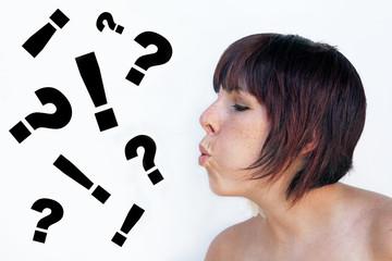 Die Fragen und Sorgen wegblasen