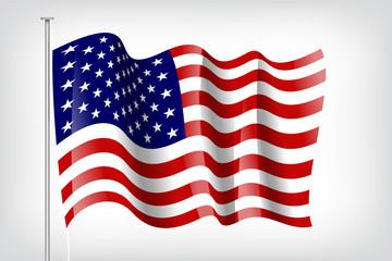 Flagge USA Wehend