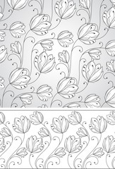 Flower background and border