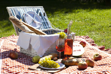 Fotobehang Picknick Perfect food in the garden. picnic